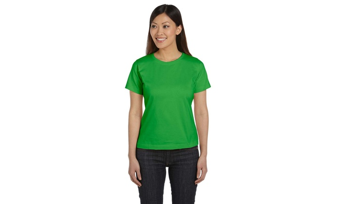 LAT Ringspun Scoop Neck Tee-Shirt LAT3580-1
