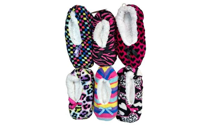 309463246e4 WSD Womens Cozy Slipper Socks with Sherpa Lining