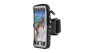 Gear Beast Ruggedized Case Compatible Smartphone Armband with Zippered Pouch