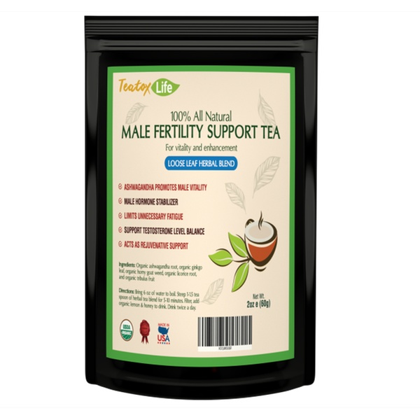 Male Fertility tea blend as fertility booster supplement - Loose leaf