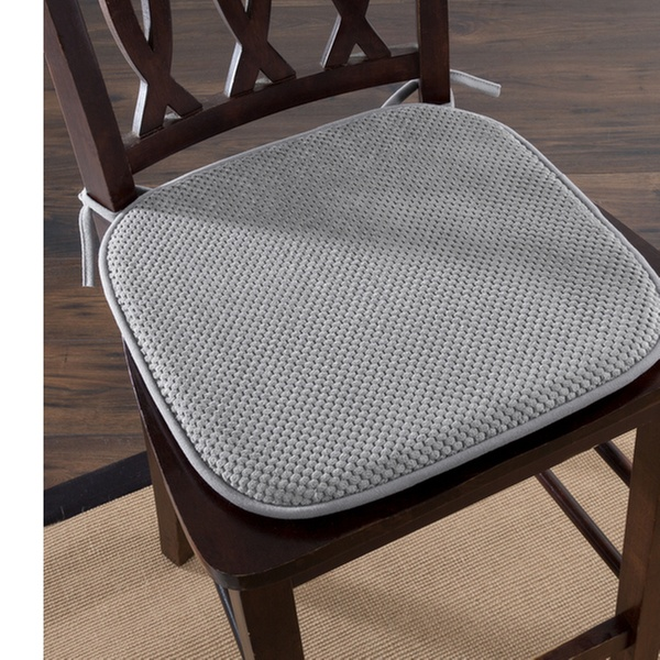 Lavish Home Memory Foam Chair Cushion For Dining Room Kitchen Outdoor Patio And Desk Chairs