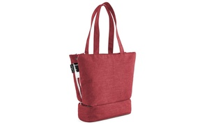 Fashion Handbag-Style Travel Toiletry Cosmetic Bag with Compartments
