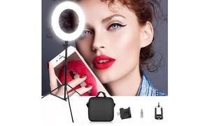 18 Inch 240-LED 5500K Dimmable LED Circle Light  Black LED Ring Light