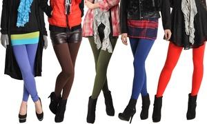 Angelina Women's Winter-Weight Fleece-Lined Leggings (1- or 6-Pack)