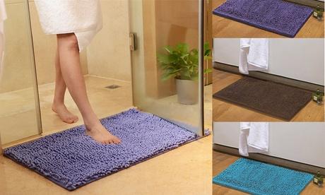 Soft Microfiber Bath Mat Non Slip Absorbent Bathroom Shower Rugs Carpet