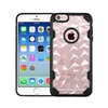Insten Polygon Hard Silicone Case For Apple Iphone 6/6s Clear/black