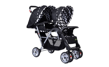 Foldable Twin Baby Double Stroller Kids Jogger Travel Infant Pushchair 713ea28c-36eb-4c2e-8837-084bfde2de2a