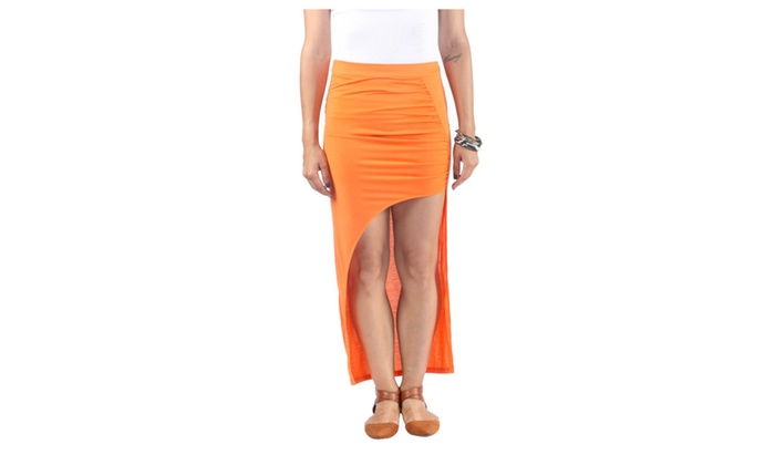 Hadari Women's High Waist Maxi Skirt