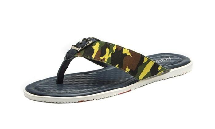 Genuine Men Leather Flip-flops Thong Sandal