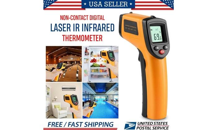 LCD Temp Meter Temperature Gun Non-contact Digital Laser IR Infrared Thermometer