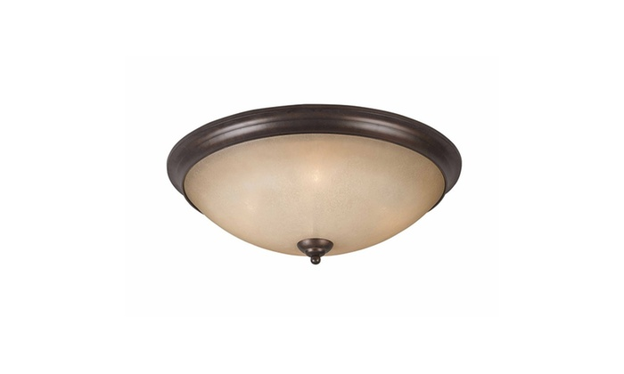 Bordeaux Collection 4-Light Bronze Flush Mount