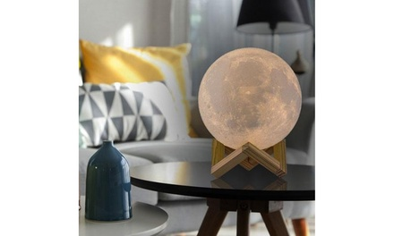 16-Color Moon Lamp with Stand and Wireless Remote