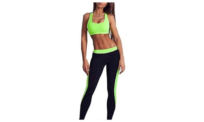 VKVKA Women's Sexy Casual Sport Workout Fitness Gym Yoga Pants Suit