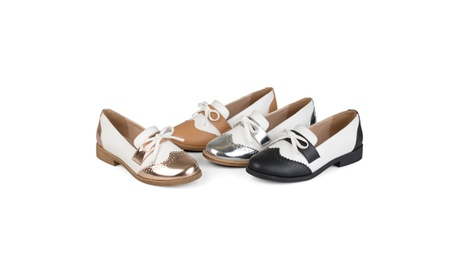 Journee Collection Womens Wingtip Bow Oxford Loafers 13f26d4f-aea0-49f3-aa9f-9b75a8fa92cf