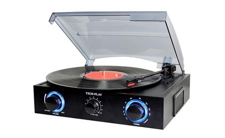 Turntable with Built-in Speakers LED Lights FM Radio RCA Jack 45RPM ba7fb378-5f9d-4118-9fa1-f2714b369b3f