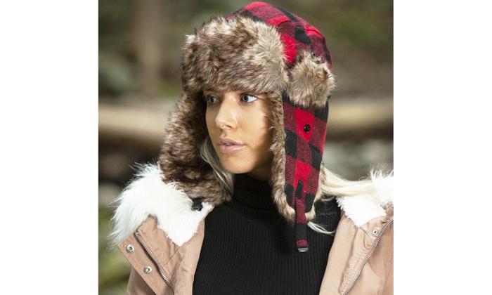 f6119d5e Solid Soft Fur Trapper Winter Hat | Groupon