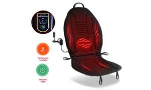 Zone Tech Heated Car Seat Chair Cushion 12V Heating Warmer Pad Hot