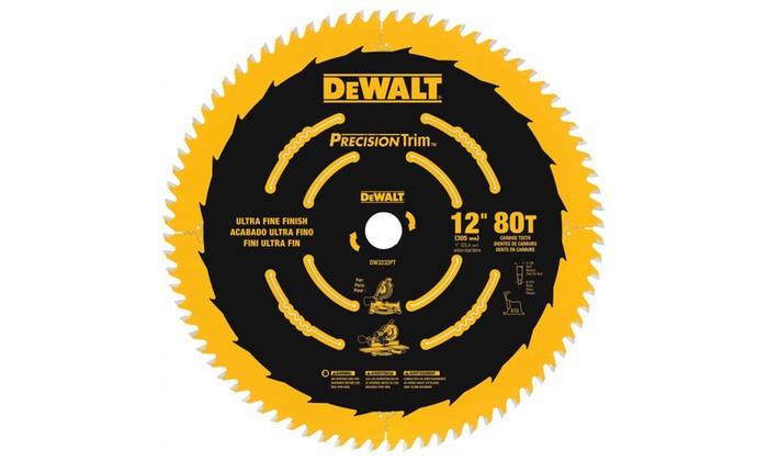 DeWalt DW3232PT Precision Trim Saw Blade 12″ 80T