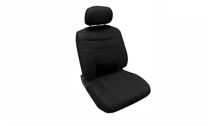 Premium Synthetic PU Faux Leather Seat Cover Set Black Pc Acura TL - Acura tl leather seats