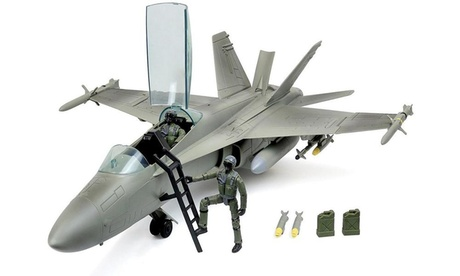 Click N Play Military Air Force Super Hornet Fighter Jet 16 Piece Play Set 01c0002c-9943-41f3-b0cb-dd8e49bc49a2