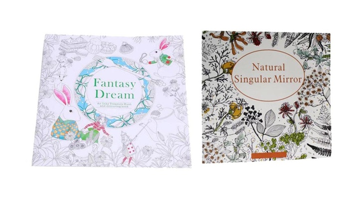 Natural Singular Mirror And Fantasy Dream Adult Coloring Book
