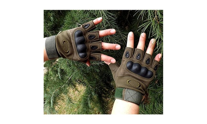 Mens Hard Knuckle Half Finger Military Gear Tactical Gloves