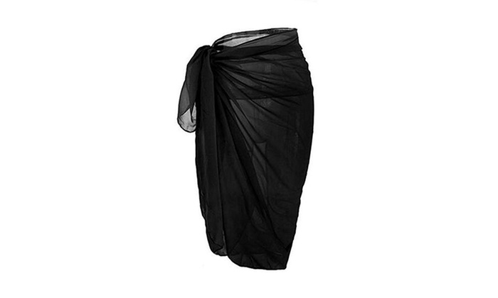 2885ae3cd5 Women Chiffon Pareo Beach Wrap Sarong Swimsuit Scarf Cover up | Groupon