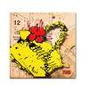 Roderick Stevens 'Flower Purse Red on Yellow' Canvas Art