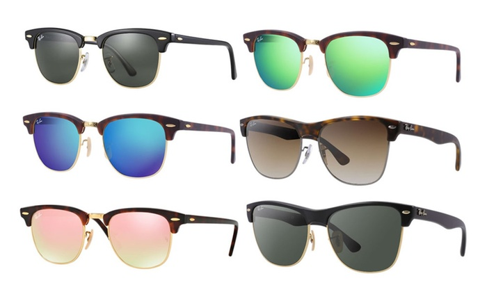 265371724 Ray-Ban Classic Clubmaster & Aluminum for Women and Men | Groupon