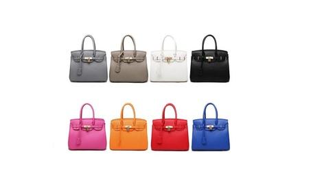 Women's Spring And Summer Handbag Litchi Pattern Platinum Handbag f97a5e55-5914-4782-b4ac-9dd2e917250b