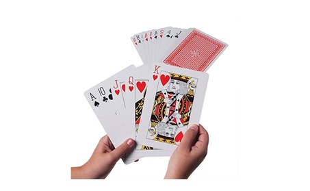 US Toy Company Giant Playing Cards (16 Packs Of 1) 1d103360-1c91-4764-a190-13e5fef97e9a
