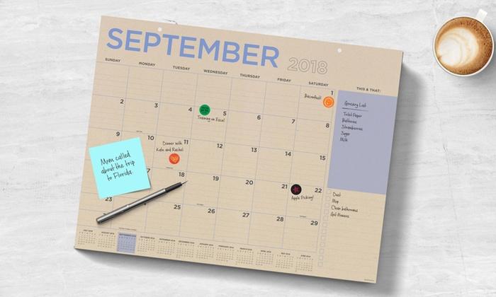 Academic Year 2019 Desk Pad Calendar Groupon