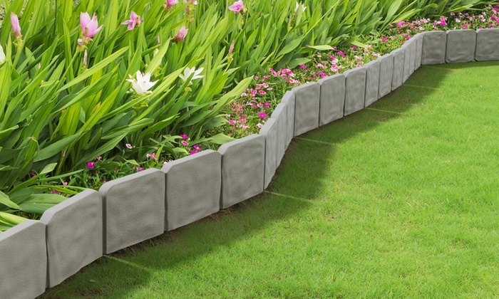 Decorative Stone Edging : Garden edging border decorative flower bed for