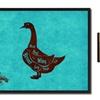 """Goose Butchers Chart , 7""""x9""""Print on Canvas, Custom Framed Art Décor"""