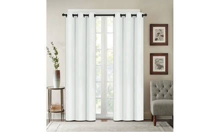 Chelsea Collection: Solid Blackout Grommet Thermal Curtain Panels