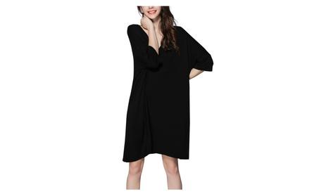 Nightshirts for Women Plus Size Scoop Neck Sleep Tee Nightshirt b949b56b-3901-4e2c-9cd0-76263cf5dd85