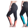 Women Yoga Pants Colorful Patchwork Workout Running Leggings Tights