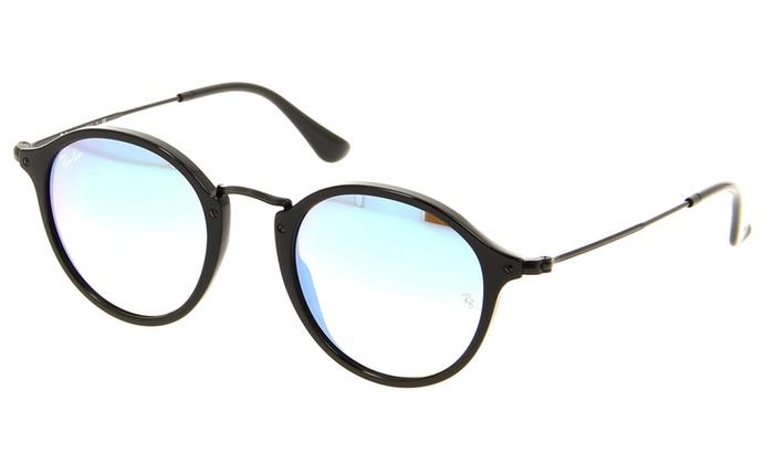 e23603c239b0e Ray-Ban Round Fleck Flash Lenses Gradient Sunglasses RB2447-901 4O-49