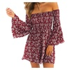 SHINA Women Summer  off Shoulder Fit Comfy Floral Casual Dresses
