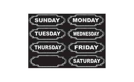 Ashley Productions ASH19002 Diecut Magnets Chalkboard Days Of The Week cdba7248-42ed-487e-b2e6-e43eadbde135