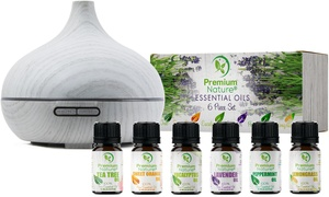 Premium Nature Aroma Diffuser and Essential Oil Gift Set (7-Piece)