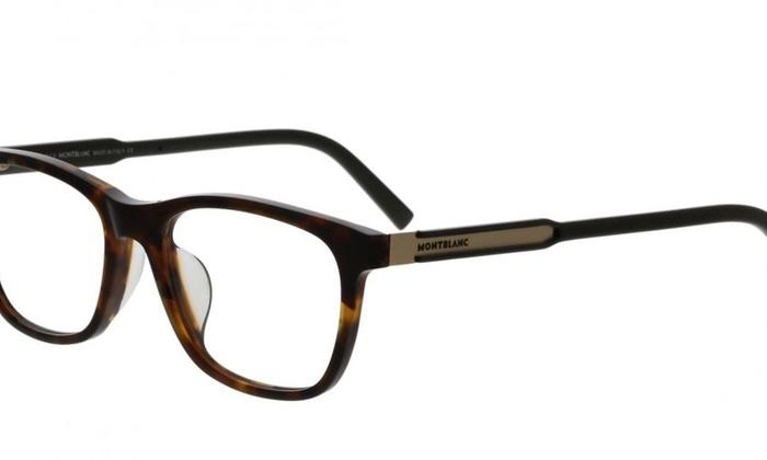 cf08ba5d3b Mont Blanc Eyeglasses MB0631-F V 056 Havana Frame   Clear Lenses ...