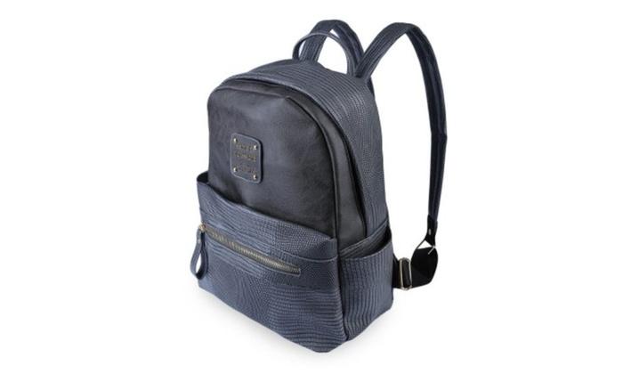 Snake Letter Embellishment Dual Purposes Backpack