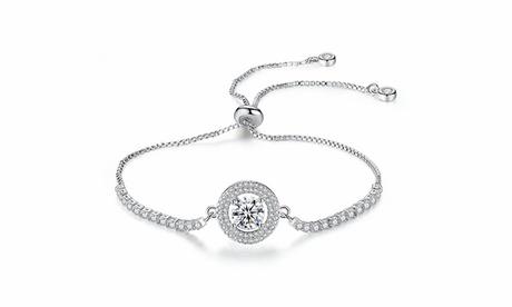 Leo Rosi Luxury CZ Crystal Bracelet in 18K White Gold Filled