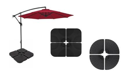 4-Piece Cantilever Offset Patio Umbrella Base Stand