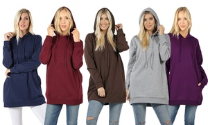 Women's Oversized Hoodie Sweatshirts (2-Pack). Plus Sizes Available.