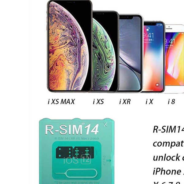 RSIM 14 New Nano Unlock Card Fits iPhone 6/7/8/X/XR/XS/XS Max iOS 12 Ultra  ICCID