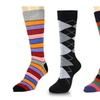 Fashion Stripe & Argyle Men Dress Trouser Socks 4 Pack