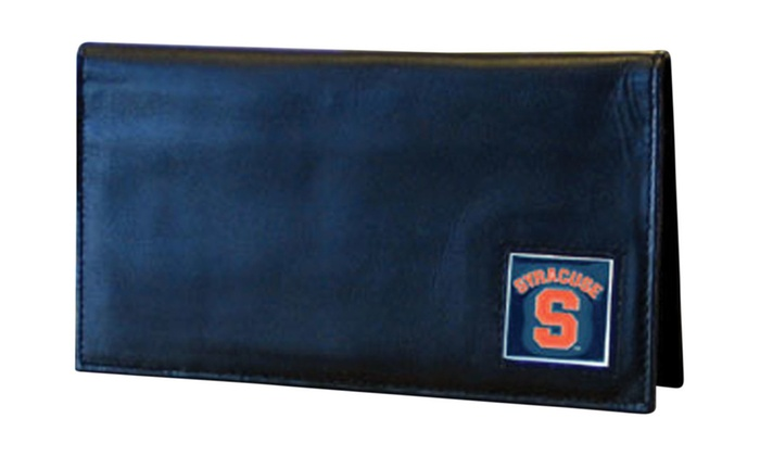 NCAA Sports Team Deluxe Leather Checkbook Cover