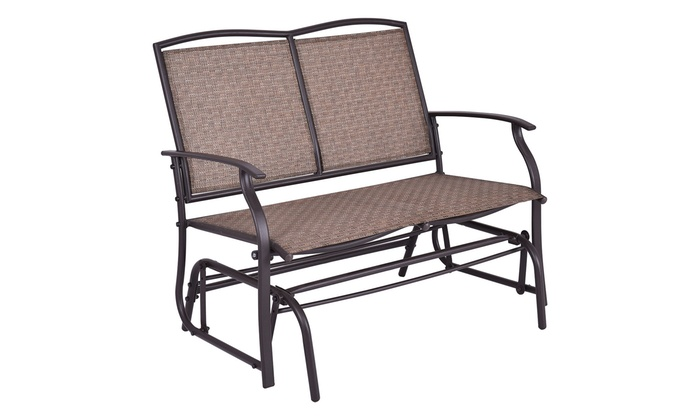 Costway Patio Glider Rocking Bench Double 2 Person Chair Loveseat ...